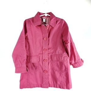 GAP Coat with Collar Jacket Gingham Lining